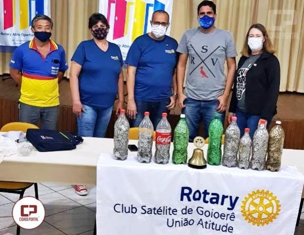 Rotary Club satélite de Goioerê recebe doação dos lacres do projeto ecológico Onive dos Santos