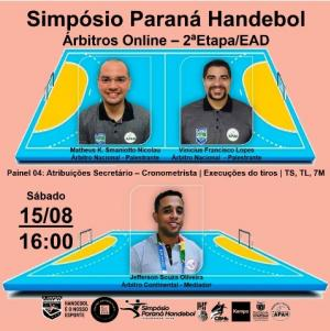 Paraná Handebol realiza neste sábado quarto painel do Simpósio On-line