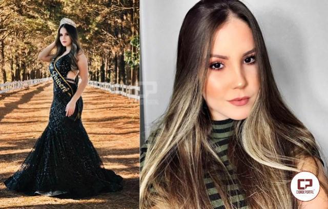 A atual Miss Goioerê Tayla Alher vai participar do concurso Miss Paraná Be Emotion 2020
