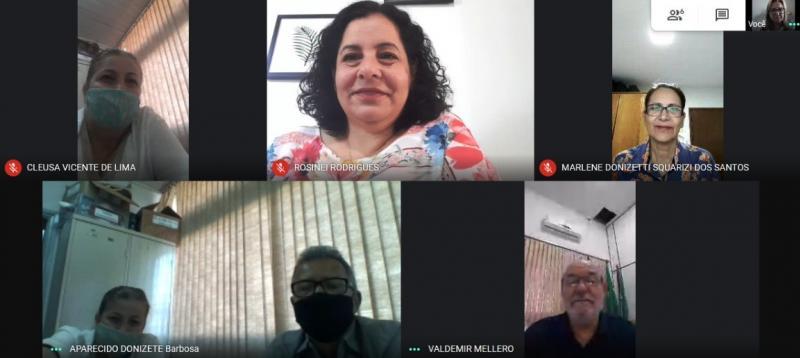Equipe gestora do CEEBJA Maria Antonieta participa de reunião com chefe do NRE de Goioerê