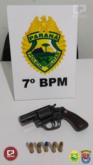 Policiais Militares do 7º BPM apreendem arma de fogo, contrabando e recuperam veículo em ocorrências distintas
