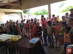 Atividades alusivas ao dia das crianças foram realizadas pelo 7º BPM em Tuneiras do Oeste