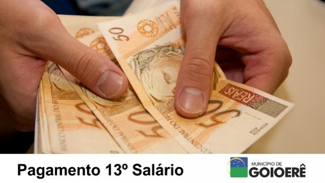 Prefeitura de Goioerê credita a segunda parcela do 13º salário na conta do servidor nesta sexta-feira, 15