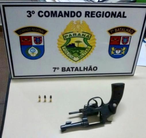 Policiais militares do 7º BPM apreendem revólver após disparo de arma de fogo