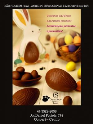 Cacau Show de Goioerê, ovos a partir de R$ 9,90