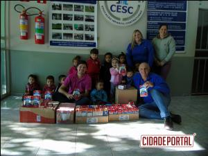 Centro Educacional Santa Clara recebe doação do Rotaract Club de Goioerê