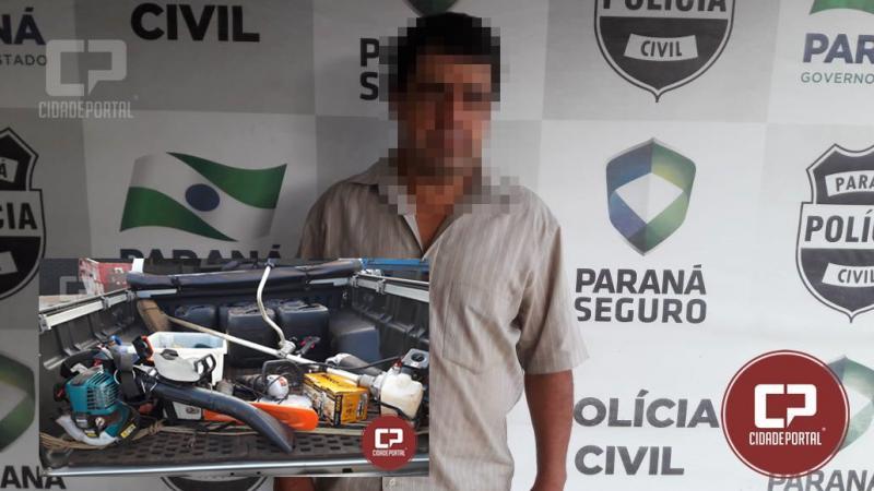Operação conjunta entre Policias Civil e Militar recupera objetos roubados em área rural de Goioerê