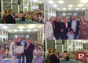 Apóstolo Agenor Bortolon Junior de Cruzeiro do Oeste recebe Título de Cidadão Benemérito
