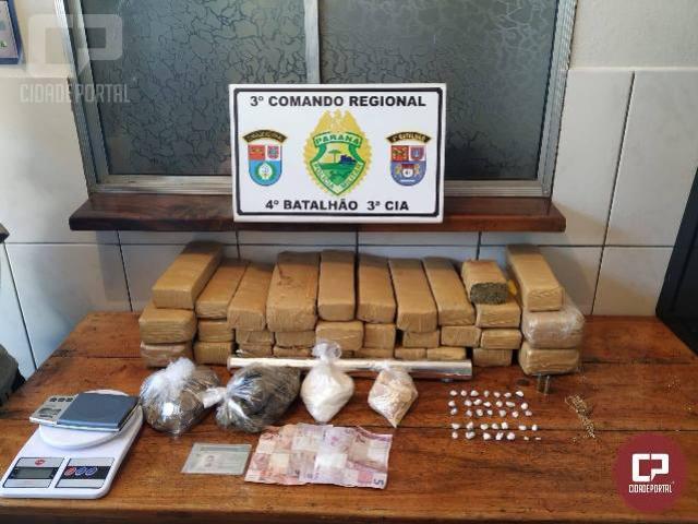 Polícia Militar prende indivíduo por tráfico de drogas em Mandaguari