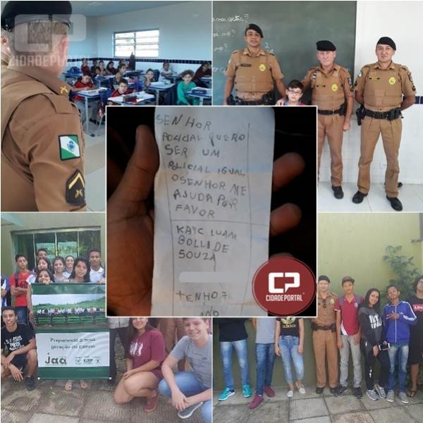 Policiais do 7º BPM promovem encontros com crianças e jovens no Distrito de Marabá