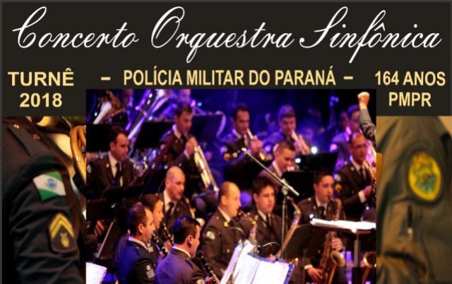Banda da Polícia Militar do Paraná realizará apresentação em Campo Mourão, dia 26