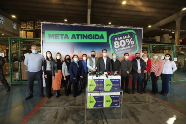 Prefeito Betinho Lima participa do evento Paraná 80% da população Vacinada