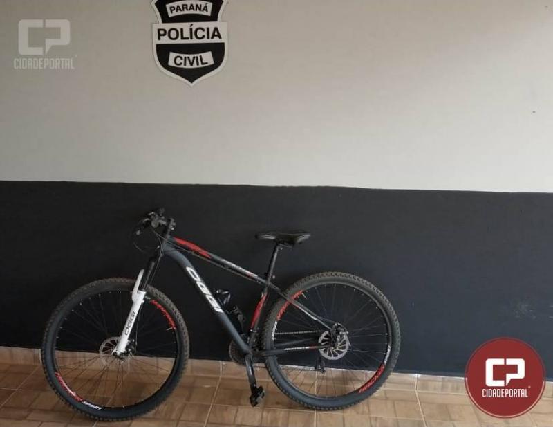 Polícia Militar de Goioerê prende uma pessoa com uma bicicleta marca OGGI aro 29 roubada
