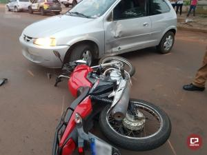 Acidente de trânsito em Goioerê deixa motociclista ferido