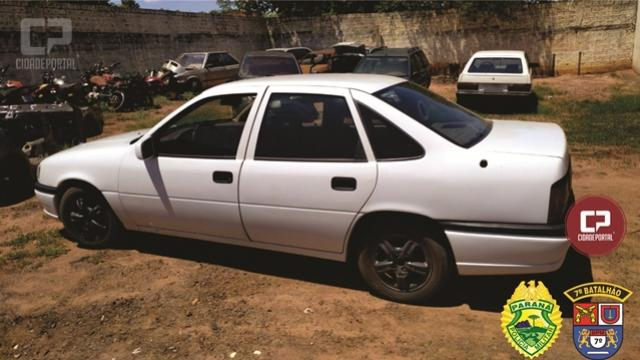 Polícia Militar de Tapira recupera veículo que foi furtado na cidade de Cianorte