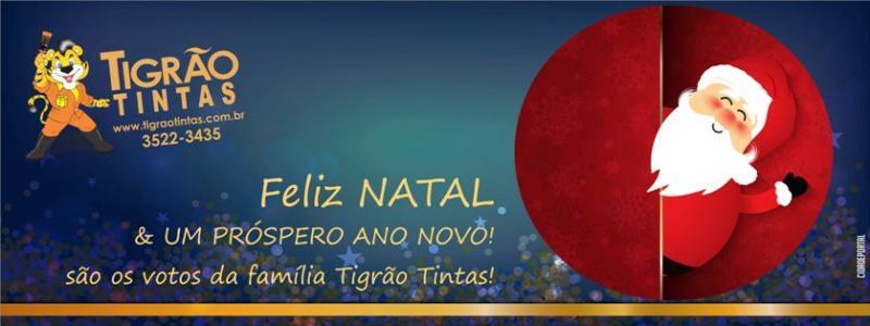 A Família Tigrão Tintas deseja um Feliz Natal e um Próspero Ano Novo a todos!