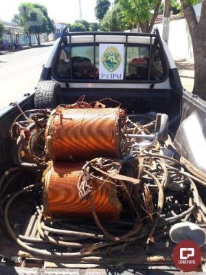 Polícia Militar da 3ªCIPM, prende no município de Santa Mônica 04 pessoas por furto