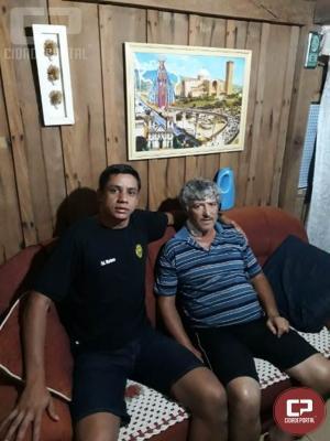 7º BPM recebem agradecimento do senhor Ademir, salvo por polícias após ser vítima de assalto