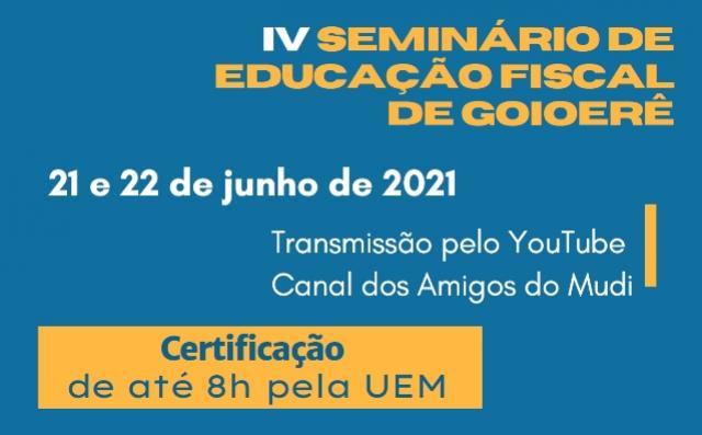 Goioerê sediará Seminário Nacional de Educação Fiscal nas próximas segunda e terça-feira