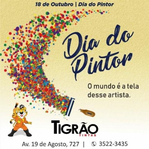 Dia do Pintor - o Mundo é a tela deste artista - Tigrão Trintas
