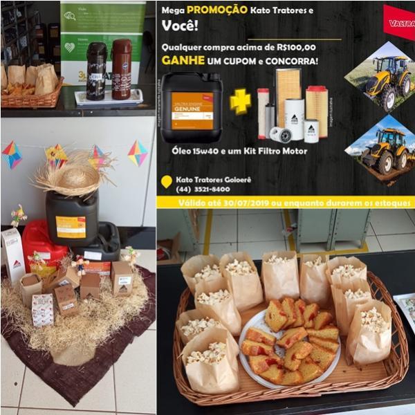 Mega promoção na Valtra Kato Tratores, nas compras acima de R$ 100 reais concorra brindes especiais