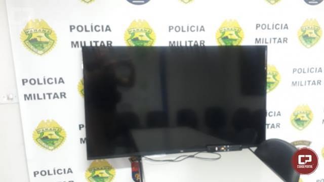 Polícia Militar de Juranda age rápido, localiza e recupera televisor furtado