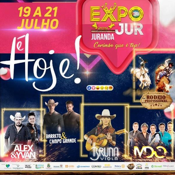 O município de Juranda abre nesta sexta-feira, 19 a programação da Expojur 2019