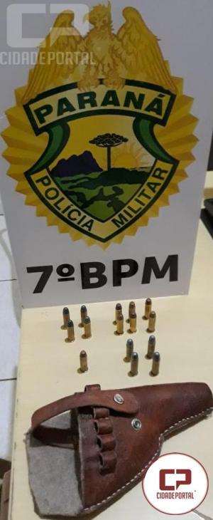 7º BPM apreende arma de fogo e munições, recupera veículo furtado e efetua prisões durante o final de semana