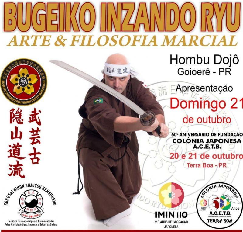 Bugeiko Izando Ryu foi convidada para o 60º Aniversário da Colônia Japonesa em Terra Boa - PR