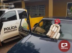 Polícia Rodoviária Estadual de Cascavel apreende motorista com 5,5 KG de Crack em fundo falso