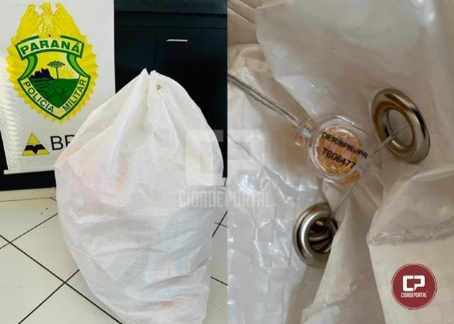 PRE de Cruzeiro do Oeste apreende mercadoria contrabandeada durante Operação de Fiscalização