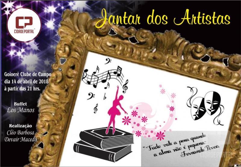 Jantar dos Artistas será realizado no dia 14 de Abril no Goioerê Clube de Campo