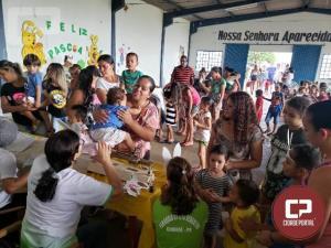 Grupos das lojas maçônicas levam a alegria da Páscoa para a Pastoral da Criança