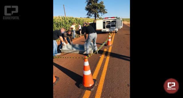 Acidente no cruzamento da PR-323 deixa um óbito e uma pessoa ferida