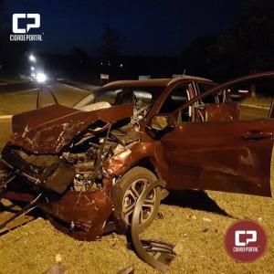 Acidente no trevo de acesso para Moreira Sales deixa 5 pessoas feridas