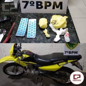 7° BPM recupera veículo furtado e apreende drogas na Cidade Gaúcha