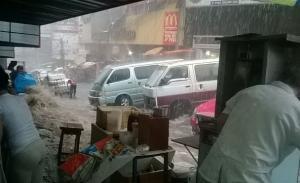 Forte chuva causa deslizamento em Ciudad del Este