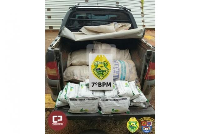 Rotam apreende veículo carregado com 120 kg de agrotóxicos em Cruzeiro do Oeste