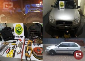 7º BPM recupera veículos e efetua prisões durante o final de semana