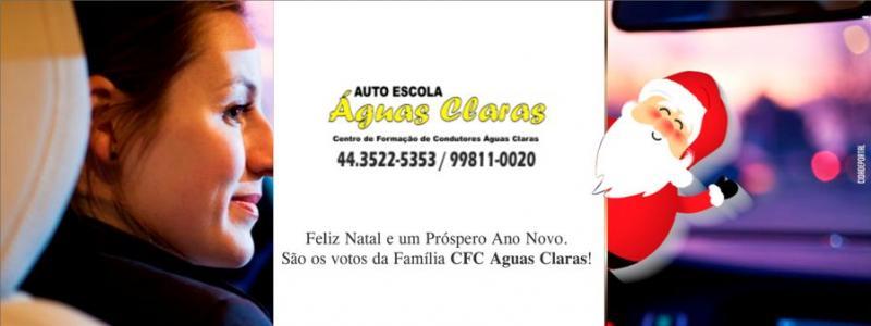 Feliz Natal e um Próspero Ano Novo! São votos da Família CFC Águas Claras!