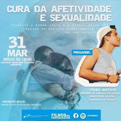 Grupo de Oração Jovem Filhos estará realizando o Kayros - Cura da Afetividade e Sexualidade