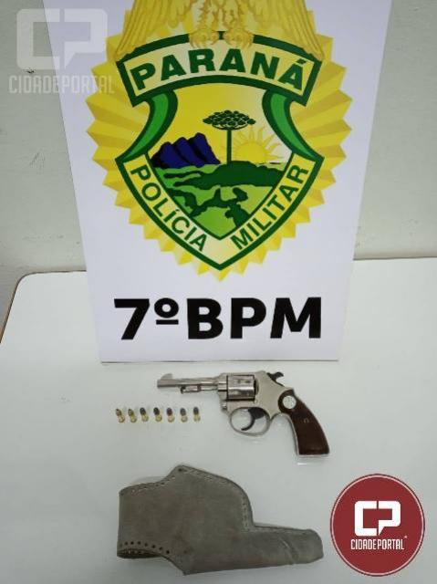 Policiais do 7º BPM apreendem armas de fogo durante cumprimento de mandados em Cruzeiro do Oeste