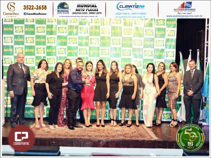 CEDATEC Treinamentos recebeu prêmio no evento Melhores do Ano Acig 2018