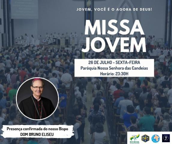 Bispo Dom Bruno celebra nesta sexta, 26, missa para os jovens na Igreja Matriz de Goioerê