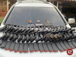 PRE de Cianorte apreende 20 Fuzil 556, carregadores e munições durante patrulhamento