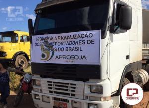 Aprosoja Paraná participa da greve dos caminhoneiros em Goioerê