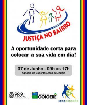 Programa Justiça no Bairro - Sesc Cidadão, será realizado em Junho em Goioerê - Saiba mais