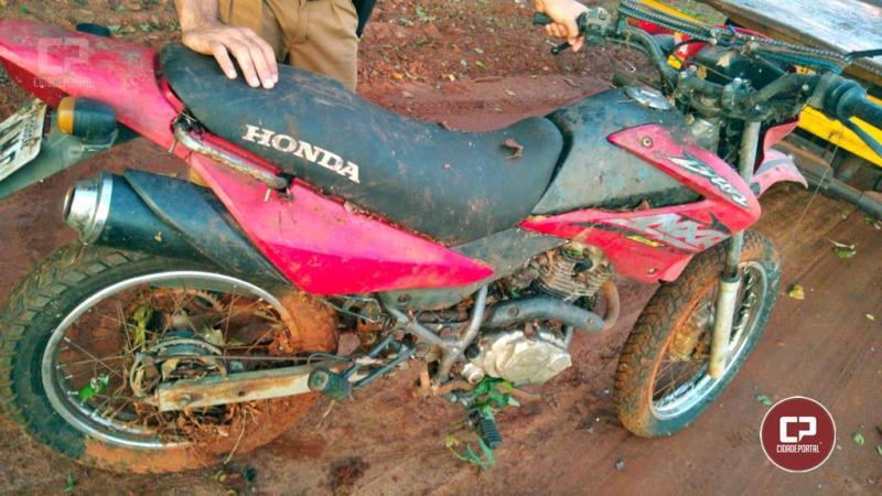 Polícia Militar de Goioerê recupera motocicleta roubada após denúncia de populares