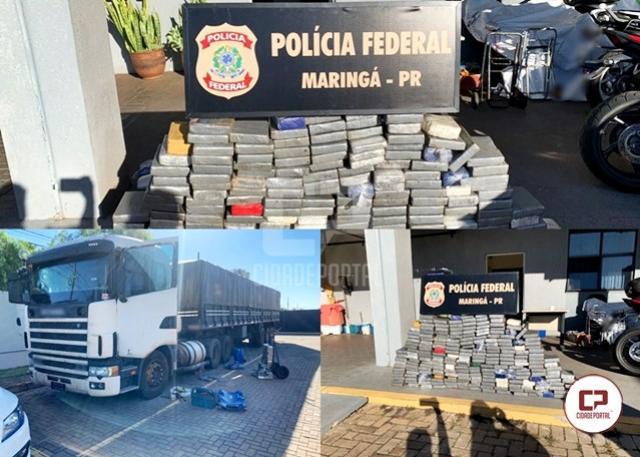Polícias Federal e Civil apreendem 239 kg de cocaína