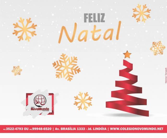 A Família Novo Mundo deseja umFeliz Natal e um Ano Novo repleto de sucesso!